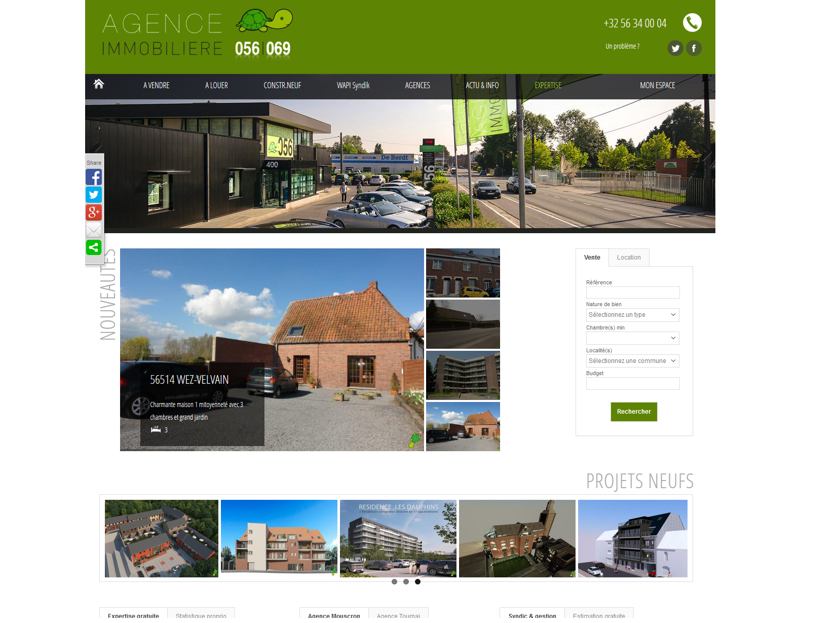 Version 8 du site de l 39 agence immobili re 056 toujours for Agence immobiliere 056